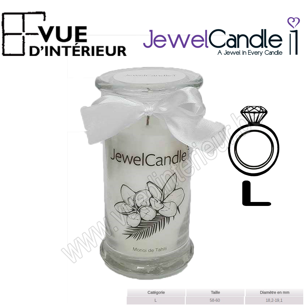 Bougie Jewelcandle Bague Taille L Monoi Tahiti