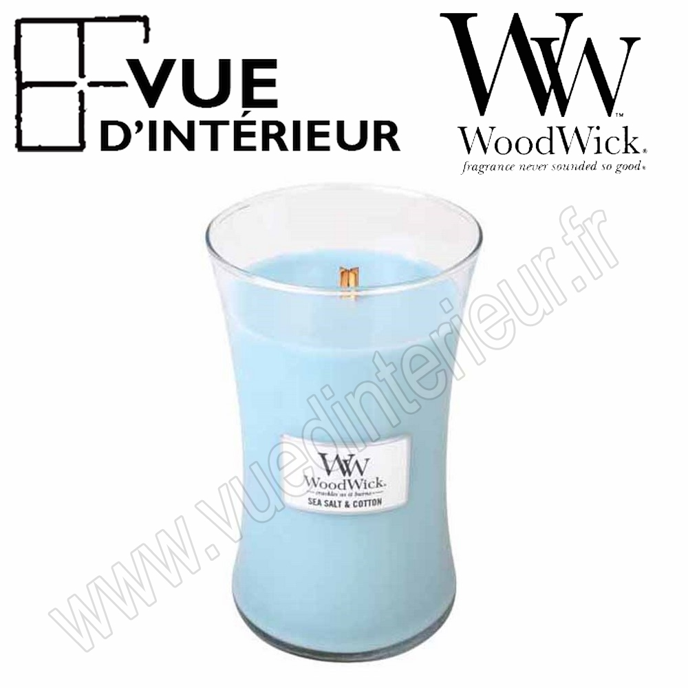 Jar Large WoodWick Sea Salt Cotton