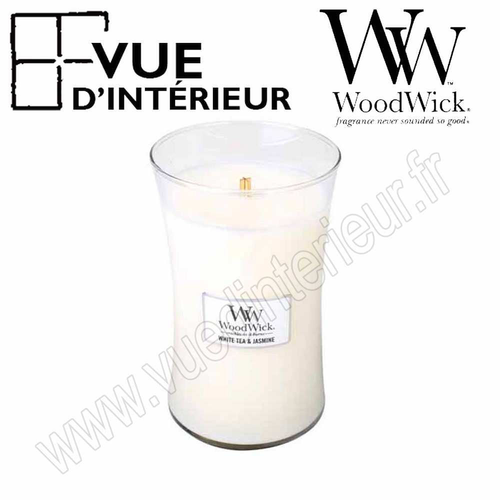 Jar Large WoodWick White Tea Jasmine